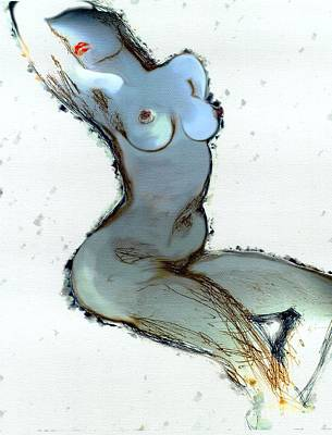 Painting - Lady Sophia - Female Nude by Carolyn Weltman