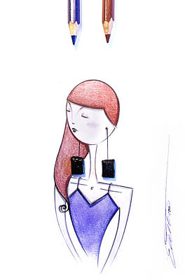 Licorice Drawing - Lady Spezzatina by Elettra Deganello