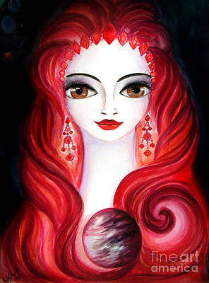 Planet Fantastic Painting - Lady Venus by Sofia Metal Queen