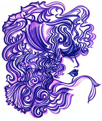 Lady Violet Art Print by Judith Herbert