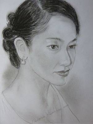 Drawing - Lady by Wanvisa Klawklean