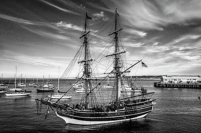 Photograph - Lady Washington In Black And White by Garry Gay