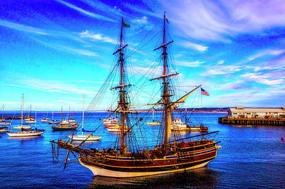 Photograph - Lady Washington In Monterey Bay by Garry Gay