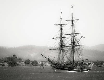 Photograph - Lady Washington Tall Ship Bw II by Athena Mckinzie