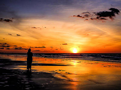 Photograph - Lady Watching The Sunrise by Terry Shoemaker