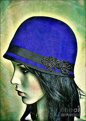Cloche Photograph - Lady Wears The Blues by Onedayoneimage Photography