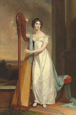 Lady With A Harp Art Print