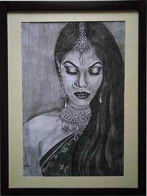 Lady With Bridal Jewelry Original