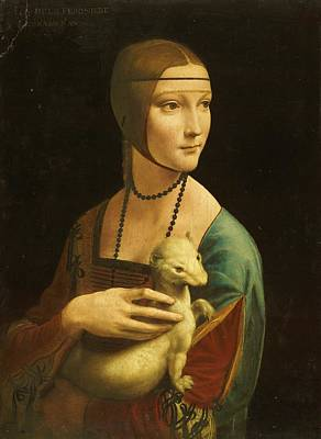Lady With Ermine Art Print by Pg Reproductions
