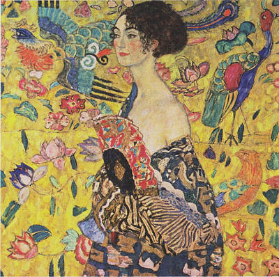 Painting - Lady With Fan by Gustav Klimt
