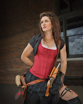 Photograph - Lady With Flintlock - Steampunk by Nikolyn McDonald