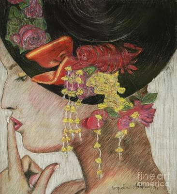 Lady With Hat Art Print by Jacqueline Athmann