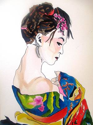 Painting - Lady With Kimono by Sacha Grossel