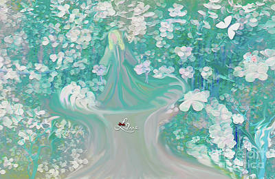 Digital Art - Lady With Love Of The Fountain by Sherri Of Palm Springs