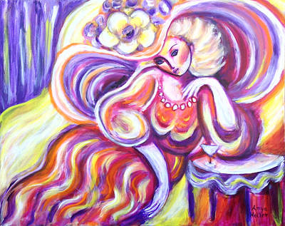 Painting - Lady With Purple Hat by Anya Heller