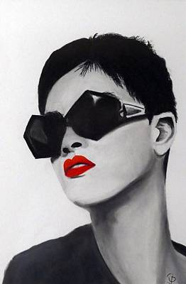 Lady With Sunglasses Original by Birgit Jentsch