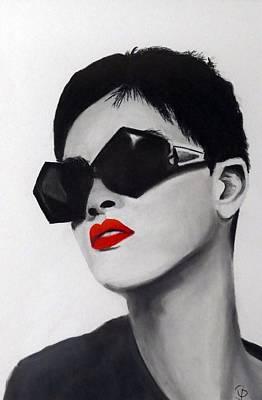 Lady With Sunglasses Original by Birgit Jentsch