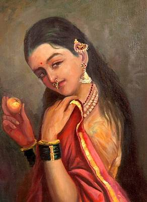 Ravi Painting - Lady With The Fruit by Sai Shyamala Ramanand