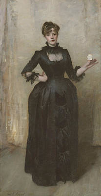 Painting - Lady With The Rose  by John Singer Sargent