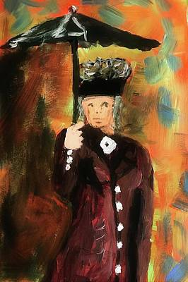 Painting - Lady With Umbrella by James Bethanis