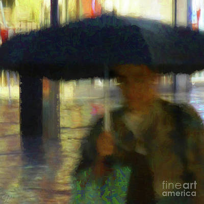 Lady With Umbrella Art Print