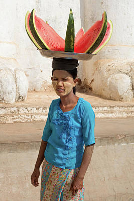 Photograph - Lady With Watermelon by Erika Gentry