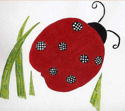 Painting - Ladybug by Christine Quimby