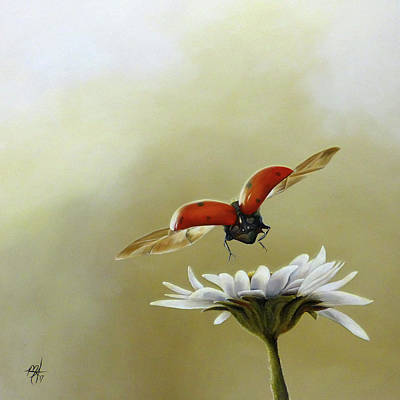 Painting - Ladybug Daisy by Michelle Iglesias