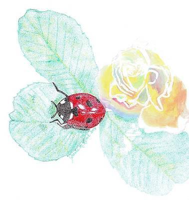 Ladybug Drawing - Ladybug by Joanne Dour