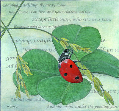 Mixed Media - Ladybug, Ladybug by Sandy Clift