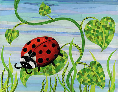 Mixed Media - Ladybug Mosaic by Shawna Rowe