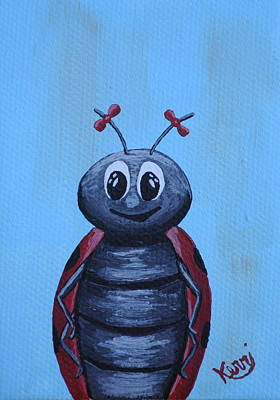 Painting - Ladybug's School Picture by Kerri Ertman