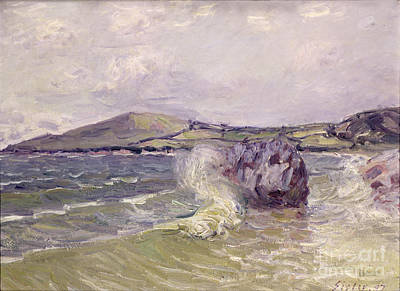 Alfred Sisley Painting - Ladys Cove Wales 1897 by Alfred Sisley