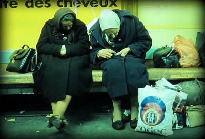 Ladys In Paris Metro Print by Daniel Gomez
