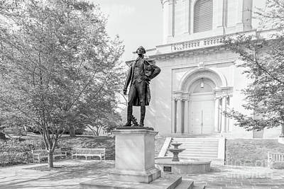 Lehigh Photograph - Lafayette College Marquis De Lafayette Statue by University Icons