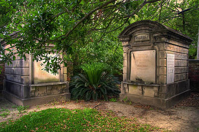 Photograph - Lafayette Crypts 1 by Tammy Wetzel