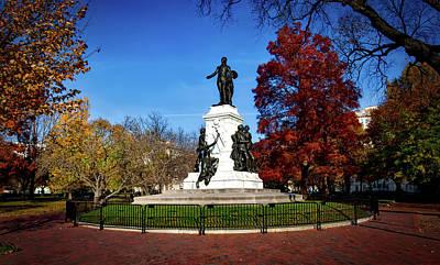 Lafayette Park In Autumn Art Print
