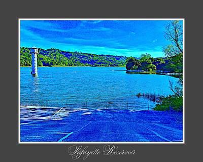 Lafayette Reservoir Postcard Art Print