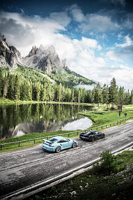 Photograph - Laferrari And Gt3rs In The Dolomites by George Williams