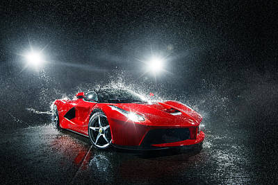 Photograph - Laferrari Splash by George Williams