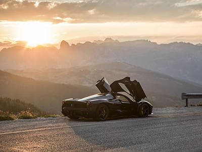 Photograph - Laferrari Sunset by George Williams