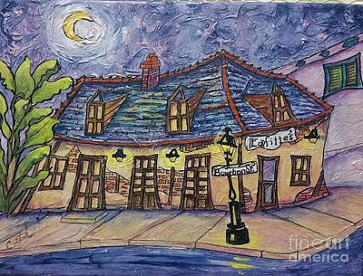 Painting - Lafitte's Blacksmith At Night by Catherine Wilson