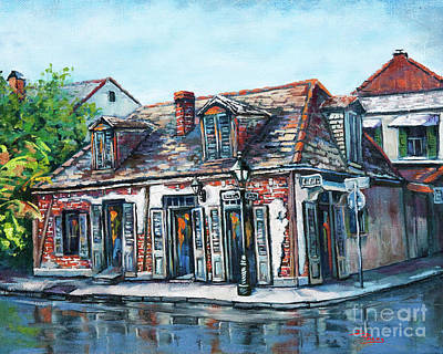 Bar Scene Painting - Lafitte's Blacksmith Shop by Dianne Parks