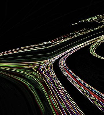 Art Print featuring the digital art L.a.freeways by Irma BACKELANT GALLERIES