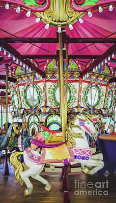 Photograph - Lafreniere Carousel -nola- Painted by Kathleen K Parker