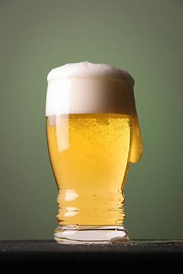 Beer Royalty-Free and Rights-Managed Images - Lager Beer by Silvia Bruno