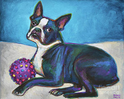 Painting - Lager, The Boston Terrier by Robert Phelps