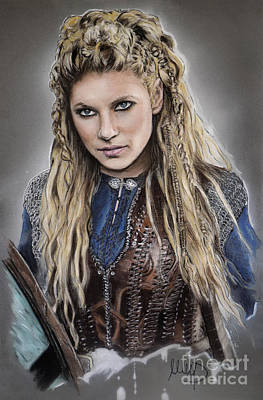 Lagertha Art Print by Melanie D