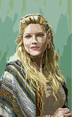 Lagertha Digital Art - Lagherta by Ping Peganan