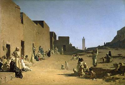 Sahara Painting - Laghouat In The Algerian Sahara by Gustave Caillebotte